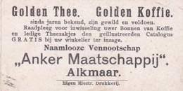 """1937104Golden Thee. Golden Koffie. ,,Anker Maatschappij""""  Alkmaar (Eigen Electr.drukkerij) - Reclame"""