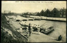 Cpa  Arras  Mise à L'eau D'un Bateau Par Le Régiment De Génie,  Animée - Arras