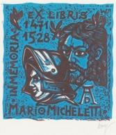 Ex Libris Mario Micheletti, In Memoriam Albrecht Dürer (1471-1528) - Remo Wolf (1912-2009) Gesigneerd - Ex-Libris