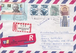 GERMANY ENVELOPPE CIRCULATED FROM FRANKFURT TO BUENOS AIRES, ARGENTINA. YEAR 1997 AIR MAIL REGISTRED -LILHU - Non Classés