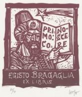 Ex Libris Egisto Bragaglia - Remo Wolf (1912-2009) Gesigneerd - Ex-Libris
