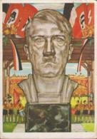 Festpostkarte Nürnberg 1934, Reichsparteitag Der NSDAP, Adolf Hitler, Propaganda-Postkarte, Drittes Reich - Weltkrieg 1939-45