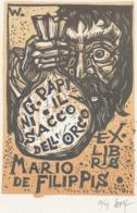 Ex Libris Mario De Filippis - Remo Wolf (1912-2009) Gesigneerd - Exlibris