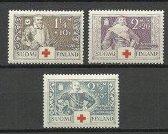 FINLAND FINNLAND 1934 Michel 184 - 186 Kriegshelden * - Finland