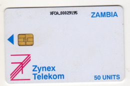 ZAMBIE REF MV CARDS ZAM-03 50U ZYNEX TELEKOM CN : XFCA Année 1998 - Zambie
