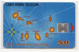 CAP VERT REF MV CARDS CPV-13 50U MAP OF CAP VERDE Année 1996 - Cape Verde