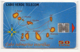 CAP VERT REF MV CARDS CPV-13 50U MAP OF CAP VERDE Année 1996 - Kaapverdische Eilanden
