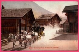 Grimselpost Bei Guttannen - Diligence - Calèche - PTT - Poste - Edit. PHOTOGLOB Co - 1911 - BE Berne