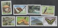 HONDURAS, 2014,MNH,CONSERVATION, BIRDS, OWLS,REPTILES, SNAKES, IGUANA, MOUNTAINS, WATERFALLS, MUSHROOMS, BUTTERFLIES, 8v - Snakes