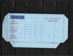 Saint Helena Merry Christmas / Happy New Year Interesting Aerogramme - St. Helena