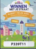 Nederland - Albert Heijn  (AH) - Winnen Met Je Straat 2019 - Axel - Overslag/Koewacht/Zaamslag - Watertoren - 5 Vouchers - Loterijbiljetten