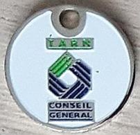 Jeton De Caddie  Conseil  Général  TARN  Verso  CONSEIL  GÉNÉRAL  DU  TARN  ( 81 ) - Jetons De Caddies