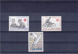 SAINT MARIN 1983  Yvert 1067 + 1076-1077 NEUF** MNH - San Marino