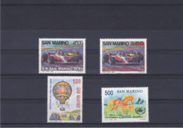 SAINT MARIN 1983 VOITURES BALLON PAM Yvert 1078-1080 + 1083 NEUF** MNH - San Marino