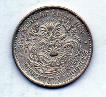 CHINA - MANCHURIAN PROVINCES, 10 Cents, Silver, Year 33 (1907), KM #209 - China