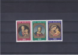 SAINT MARIN 1983 PEINTURES DE RAPHAËL NOËL Yvert 1084-1086 NEUF** MNH - San Marino