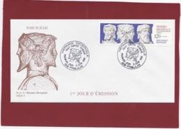 VAR 83 FREJUS 1 ER JOUR D'EMISSION HERMÉS DICÉPHALE ENVELOPPE AVEC CACHET - Storia Postale