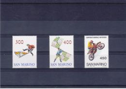SAINT MARIN 1984 DRAPEAUX MOTOS Yvert 1092-1094 NEUF** MNH - San Marino