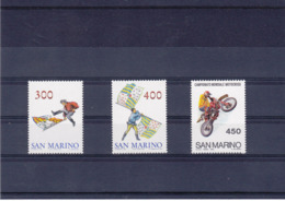 SAINT MARIN 1984 DRAPEAUX MOTOS Yvert 1092-1094 NEUF** MNH - Neufs