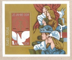 DDR - Foglietto Nuovo MNH: 35 Anniversario Della DDR - 1984 * G - Nuovi