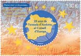 French Andorra 2019 - 25 Anys De L'entrada D'Andorra Al Conselld'Europa Mnh - Andorra Francesa