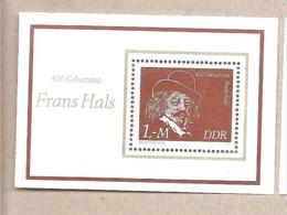DDR - Foglietto Nuovo MNH: 400° Anniversario Della Nascita Di Frans Hals - 1980 * G - Nuovi