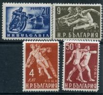 Y85 Bulgaria 1949 704-707 Physical Education. Motorsport Tractors Athletics - Motorräder