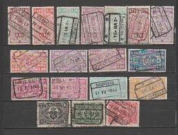 BELGIUM- Lot Of 18 Used Stamps. - Railway