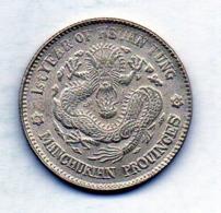 CHINA - MANCHURIAN PROVINCES, 20 Cents, Silver, Year 1 (1910), KM #213.2 - China
