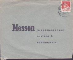 Greenland HØGLUND Telestationen SDR. STRØMFJORD 1965 Cover Brief MESSEN Købmagergade København K. Fr. IX. Single - Groenlandia