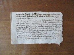 1er MAI 1743 EXTRAIT DU REGISTRE DES BAPTEMES MARIAGES ET INHUMATIONS DE LA PAROISSE St LAURENT DE ROUEN GENERALITE HUIT - Manuscrits