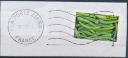 France - Légumes (Piments) YT A741 Obl. Ondulations Et Dateur Rond Sur Fragment - Francia