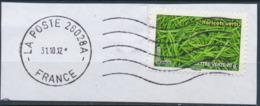 France - Légumes (Haricots Verts) YT A742 Obl. Ondulations Et Dateur Rond Sur Fragment - Francia