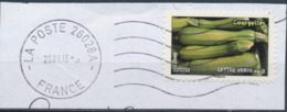 France - Légumes (Courgettes) YT A744 Obl. Ondulations Et Dateur Rond Sur Fragment - Francia