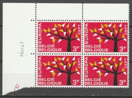Belgie  .   OBP  .    1222-V    Blok Van 4  .    **    .  Postfris  .   /   .  Neuf SANS Charniere - Belgium