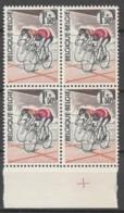 Belgie  .   OBP  .    1255-V2    Blok Van 4  .    **    .  Postfris  .   /   .  Neuf SANS Charniere - Belgium