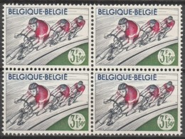 Belgie  .   OBP  .    1257-V    Blok Van 4  .    **    .  Postfris  .   /   .  Neuf SANS Charniere - Belgium
