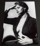 SOPHIA LOREN # Sexy Pin-Up Girl Portrait # Großes Star-Photo, Ca. 13 X 18 Cm # [19-4559] - Fotos