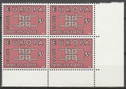 Belgie  .   OBP  .    1260-V    Blok Van 4  .    **    .  Postfris  .   /   .  Neuf SANS Charniere - Belgium