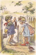 Germaine Bouret. Illustrateur. Enfant Rabbit Hunting  Old Postcard  Cpa. M.D. Paris. - Bouret, Germaine