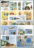Bhutan 1990 STAMP WORLD 150 Jahre Briefmarken Block 273/86 Postfrisch (C30110) - Bhután