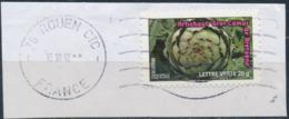 France - Légumes (Artichaut Gros Camus) YT A748 Obl. Ondulations Et Dateur Rond Sur Fragment - Francia