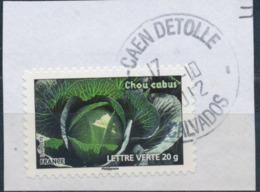 France - Légumes (Chou Cabus) YT A750 Obl. Cachet Rond Manuel Sur Fragment - Francia