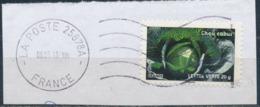 France - Légumes (Chou Cabus) YT A750 Obl. Ondulations Et Dateur Rond Sur Fragment - Francia
