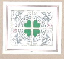 DDR - Foglietto Nuovo MNH: Auguri Per Il Nuovo Anno - 1983 * G - Nuovi