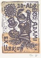 Ex Libris Alberto Adami - Remo Wolf (1912-2009) - Exlibris
