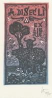 Ex Libris A. Disecli - Remo Wolf (1912-2009) - Ex-Libris