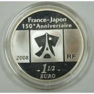 1 Euro 1/2 Argent 150 Ans De Relations FRANCE-JAPON 2008 - Francia