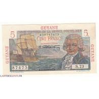 GUYANE 5 FRANCS BOUGAINVILLE  SPL  1946 - Guyana Francese