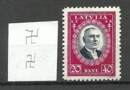 LETTLAND Latvia 1930 Michel 168 * WM Inverted Vertical - Lettland